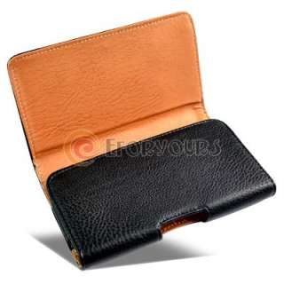 Black Leather Pouch Flip Case Cover for Samsung Galaxy Note GT N7000