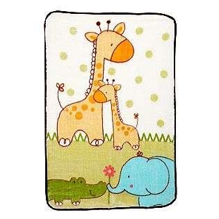 Luv U Zoo Luxury Plush Throw  Fisher Price Baby Bedding Blankets