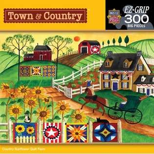 MasterPieces Country Flower Quilt Farm Puzzle