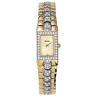 Ladies Gold Tone Dress Watch  Bulova Jewelry Watches Ladies