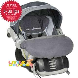BABY TREND GREY MIST INFANT CAR SEAT w/CAR SEAT FLEX LOC BASE CS31052