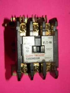 Cutler Hammer C25DND325 Contactor, 25 Amp, 3 Pole