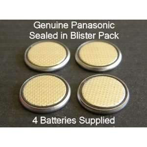 Four (4) X Panasonic Cr2032 Lithium Coin Cell Battery 3V