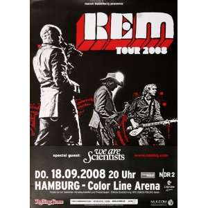 R.E.M.   Live HH 2008   CONCERT   POSTER from GERMANY