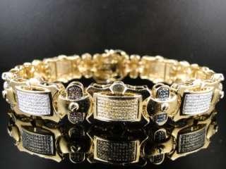 10K MENS WHITE GOLD WITH MULTI DIAMOND BRACELET 5.0 CT