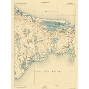 USGS TOPO MAP BARNSTABLE QUAD MASSACHUSETTS (MA) 1893