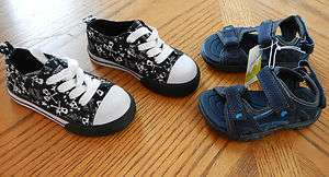 toddler Boy Summer Shoe Lot size 7 Sneaker Sandal $42 Kohls Place NWT