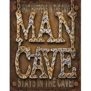 Discount Man Cave   Diamond Plate Metal Tin Sign 16 X 12.5 , 16x13