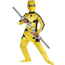 Yellow Power Ranger Deluxe Halloween Costume   Child Size Small