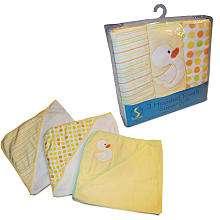 SpaSilk Hooded Towel Set   Yellow Duck   3 Pack   SpaSilk   BabiesR