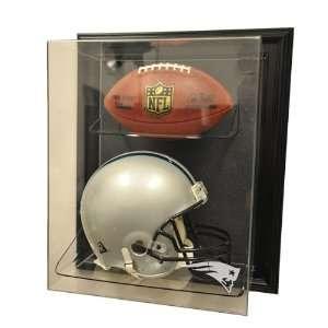 New England Patriots Full Size Helmet and Football Display