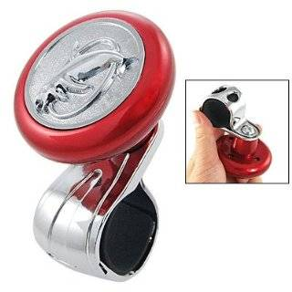 Amico Car Auto Red Silver Tone Dolphin Steering Wheel Spinner Knob