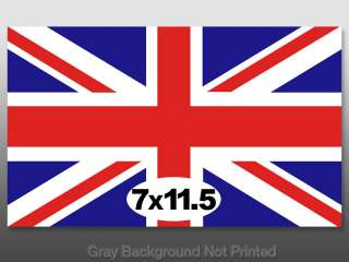 Large Union Jack Flag Sticker  UK stickers decal big gb