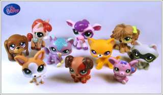Lot of 10 Littlest Pet Shop LPS Girl Toy Animal Figures Child Girl