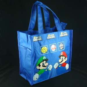 Super Mario Tote Handbag Lunch box Bag BLUE HB Mario