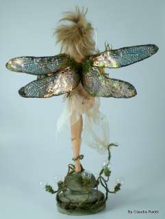 Tinkerbell OOAK Fairy Art Doll, IADR, by Claudia Raddi