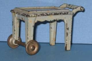 KILGORE TOY TEA CART CAST IRON ORIG BLUE CI124