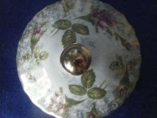 Chodziez 21pc tea set, red pink rose Teapot Cups Saucer