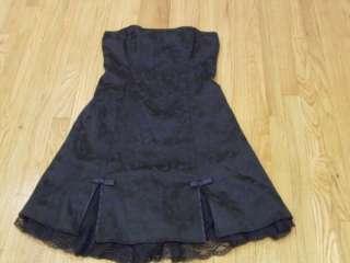 Byerwear Too Black Strapless Party Dress Size 13 CUTE