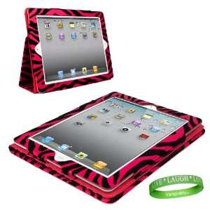 Zebra iPad Skin Cover Case Stand with Screen Flap and Sleep Function