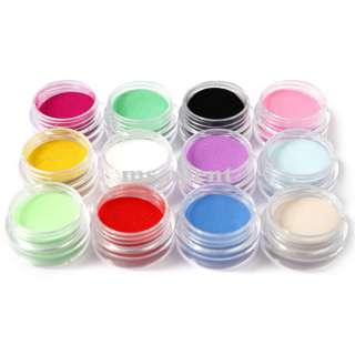 12 Colors Carving Sculpture Glitter Powder Nail Art For Carving
