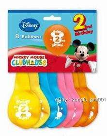 8pc Disney Mickey Mouse 2nd Birthday Party Balloon