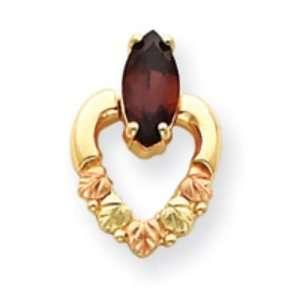10k Tri color Black Hills Gold Garnet Earrings Jewelry