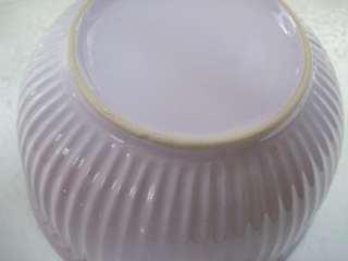 New PALE PINK & White Ceramic MIXING & SERVING BOWL