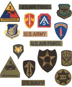 Iron on/Sew on MILITARY ARMY NAVY USAF PATCH ASSORTMENT
