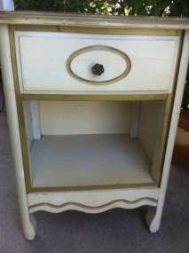 Vintage French Provincial Chic Nightstand End Table Shabby