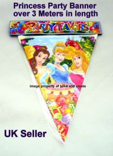 PRINCESS PARTY ITEMS CUPS, PAPER PLATES, PARTY BAGS, INVITATIONS, HATS