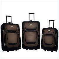 Coleman Ridgeline 3 Piece Luggage Set Brown/Black Expandable New