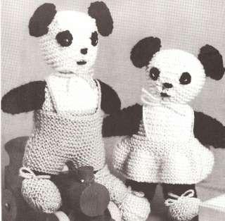 Vintage Donkey Stuffed Toy Knitting Pattern