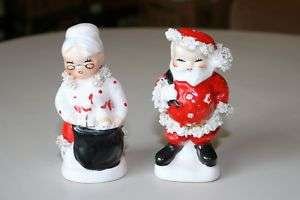Mr/Mrs Claus SALT & PEPPER Figural Shakers Napco AX920