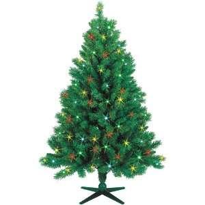 Monroe Pine Pre Lit Artificial Christmas Tree   Multi Lights