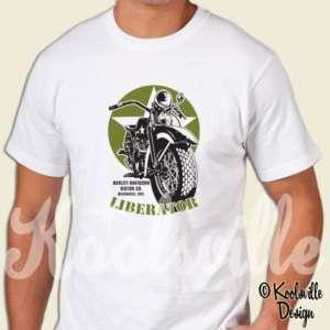 Harley Davidson Liberator T shirt WLA Bobber Military