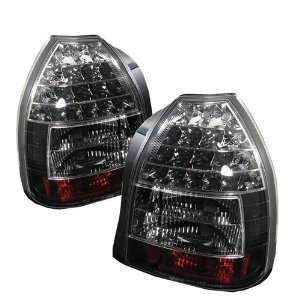 HONDA CIVIC 96 97 98 99 00 3DR LED TAIL LIGHTS   Black