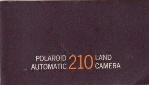 Polaroid 210 Land Camera Instruction Manual Original