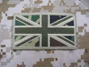 UK Flag Special Force SAS SBS Patch Woodland DPM camo