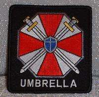 RESIDENT EVIL Embroidered Umbrella Corp Logo PATCH