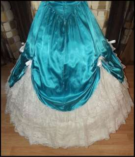 VTG 80s Southern Belle Ball Gown Draped Prom Dress CINDERELLA OHARA