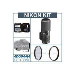Nikon 200mm f/4D ED IF AF Micro Telephoto Nikkor Lens with Case   Gray