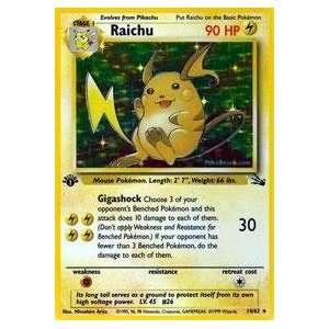 Pokemon   Raichu (14)   Fossil   Holofoil: Toys & Games