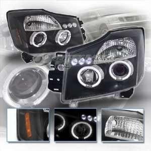 04 Up NISSAN TITAN / ARMADA Dual Halo Projector Headlights