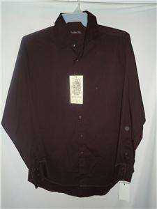 Red Level Nine mens Long Sleeve Dress Shirt brown nwt