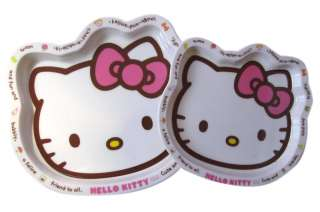 2pcs Sanrio Hello Kitty Serving Tray   Dinnerware