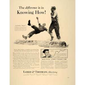 1939 Ad Lord & Thomas Advertising Log Rolling Contest