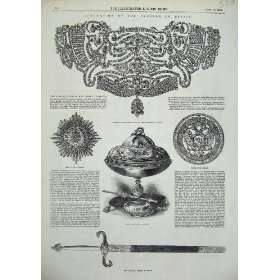 1856 Emperor Russia Sword Diamond Stomacher Medal Star: Home & Kitchen