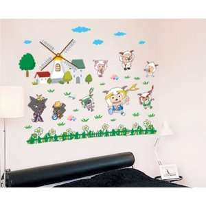Farm Land Green Wall Sticker Decal for Baby Nursery Kids Room