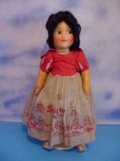 1937 Ideal 16 Snow White Cloth Disney